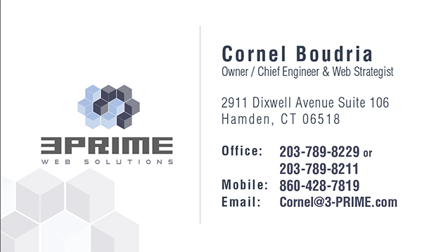 Business card design 3prime banner ad design business card reheart Choice Image