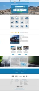 Full homepage design for Direct Connect Auto Transport in 2014