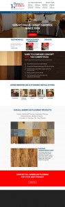 Full Homepage Design for Flooring Company 2013