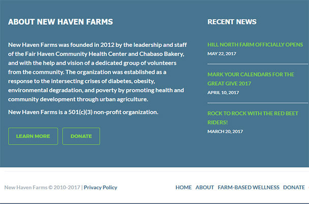 New Haven Farms Footer