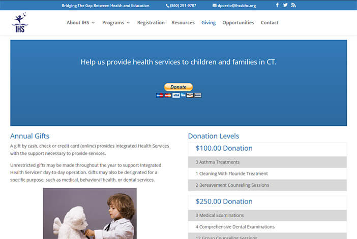 Donate to Integrated Health Services