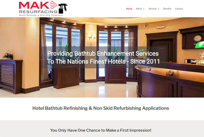 MAK Resurfacing Website Rebuild